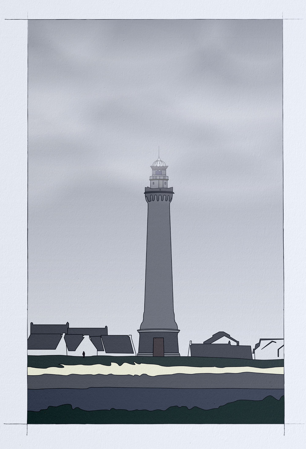 Illustration Phare d'Eckmühl © Aurélien Biard