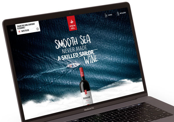 Client Grain de Sail Wines © Business to Web