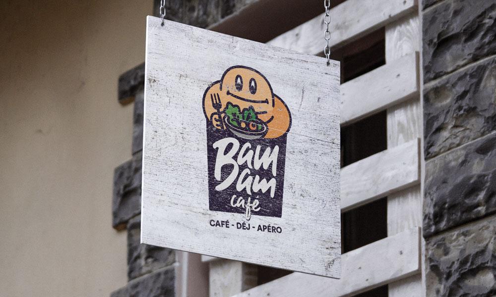 Enseigne Bam Bam café © Bam Bam Café